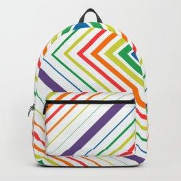 Tricky Figure - Optical Illusion - Geometric Art - Modernist Backpack