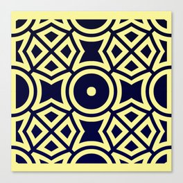 Composition in Texas Yellow and Stratos Blue Canvas Print