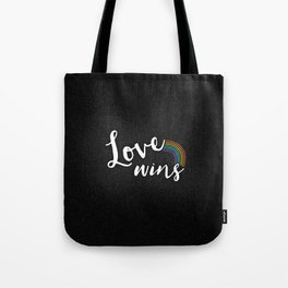 Loves wins Tote Bag