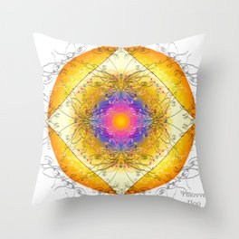 Mandala Blanca Throw Pillow