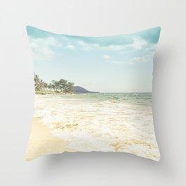 Polo Beach Maui Hawaii Throw Pillow