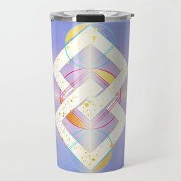 Linked Lilac Diamonds :: Floating Geometry Travel Mug