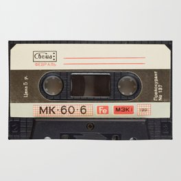 Retro 80's objects - Compact Cassette Rug