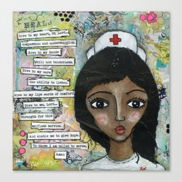 Nurse - African American  Canvas Print