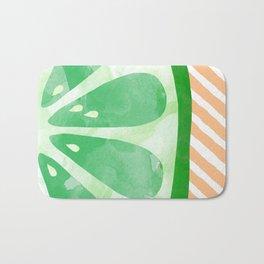 Lime Abstract Bath Mat
