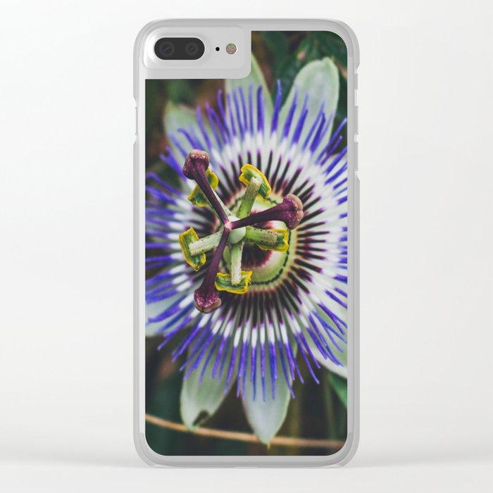 Flower Firework Clear iPhone Case