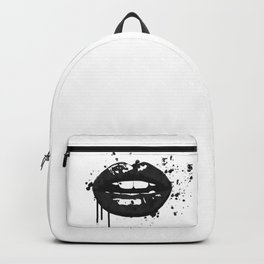 Black and white glamour fashion lips Backpack