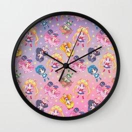 Chibi Sailor Moon Crystal Pattern Wall Clock