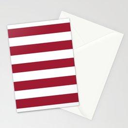 University of Alabama Crimson - solid color - white stripes pattern Stationery Cards
