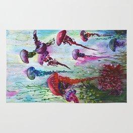 jolly jellyfish Rug