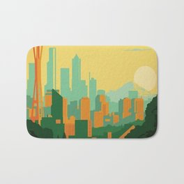 Vintage poster - Seattle Bath Mat