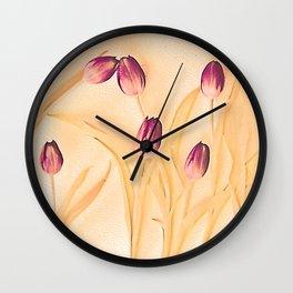 Vintage tulips 2 Wall Clock