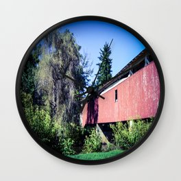 Covered Bridge Wall Clock
