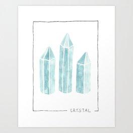 watercolor crystal Art Print