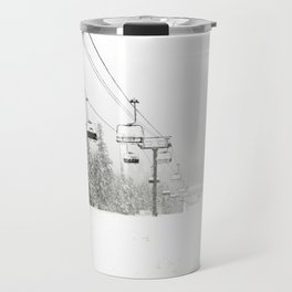 Lifts waiting for action in the snow Travel Mug