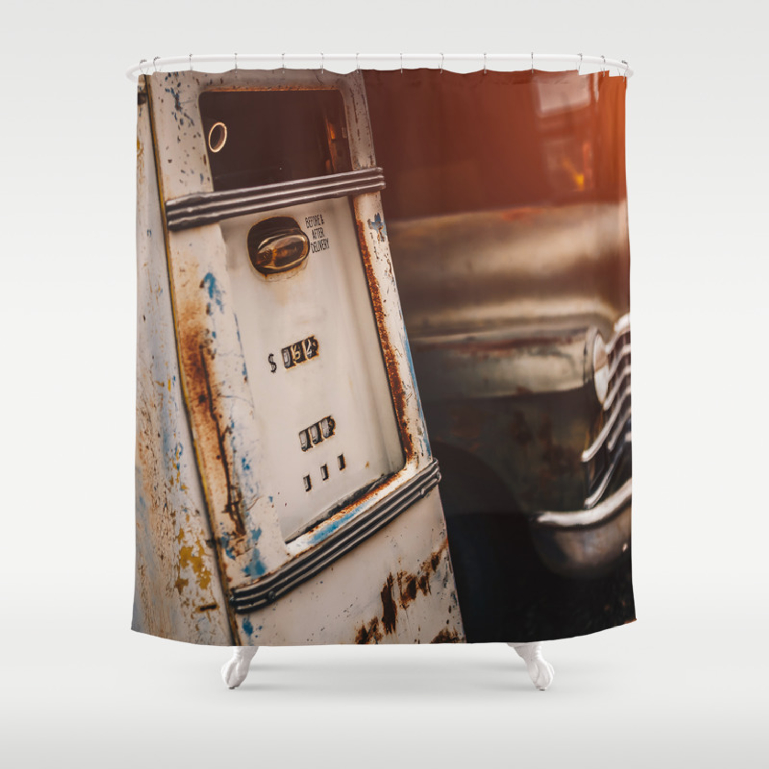 Old American Abandoned Gas Station Shower Curtain By Clarimassimiliano Society6