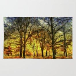 Greenwich Park London Sunset Art Rug
