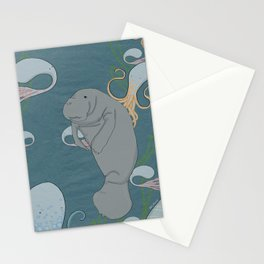 I'd like to be a manatee. In an octopus' garden in the shade Stationery Cards