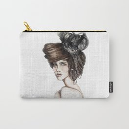 Queen of Diamonds // Fashion Illustration Carry-All Pouch