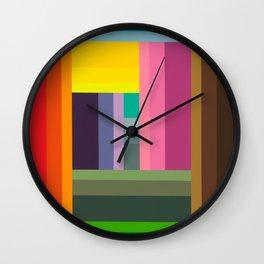 """Moment #9"" Montana Gold Spray Paint on Birch Panel 11″ x 14″ x 1.5"" *Original Sold  Wall Clock"