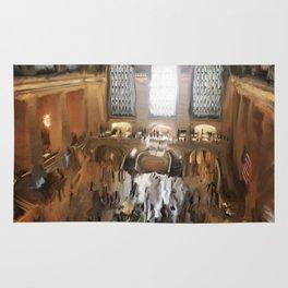 Grand Central Terminal in Digital Oils Rug