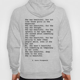 She was beautiful by F. Scott Fitzgerald #minimalism #poem Hoody
