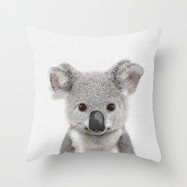 Koala Print, Australian Baby Animal, Nursery Wall Art, Peekaboo Animals, Koala Throw Pillow