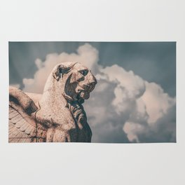 WINGED ROMAN LION Rug
