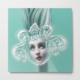 SEA GODDESS LEUCOTHEA Metal Print