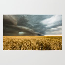 Earth Mover - Storm Advances Across Great Plains in Colorado Rug