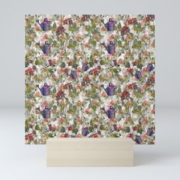 Floral with Watering Can Mini Art Print