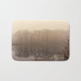 Foggy springtime Reflections Bath Mat