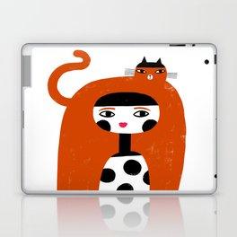 ORANGE LONG HAIR Laptop & iPad Skin