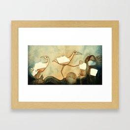 Fill in the Blanks Framed Art Print