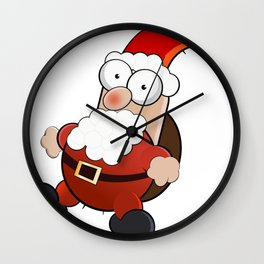 Cartoon Santaclaus Wall Clock