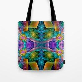 Colorful Fractal Juliascope Tote Bag