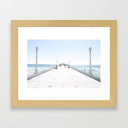Manhattan Beach Framed Art Print
