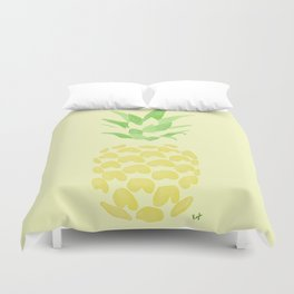 Pineapple watercolour (yellow) Duvet Cover