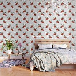 Light Grey/Cinnamon Cockatiel Wallpaper
