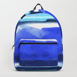 Wave Stripes Abstract Seascape Backpack