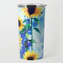 Sunflower Sky Travel Mug