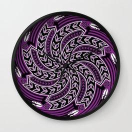 Wind Spirit (Purple) Wall Clock