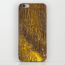 Gold Sparkly Abstract Design iPhone Skin