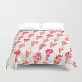 Ice Cream Cones – Pink & Peach Palette Duvet Cover