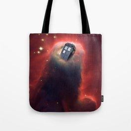 Tardis Doctor Who Pillar Of Gas Tote Bag