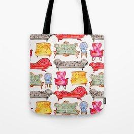 Victorian Lounge – Rainbow Palette Tote Bag