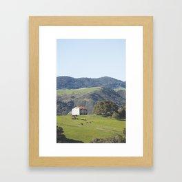 Hill Barn Framed Art Print