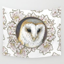 Barn owl small Wall Tapestry
