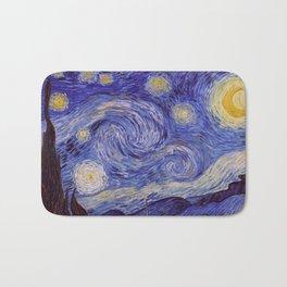 Vincent Van Gogh Starry Night Bath Mat