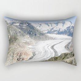 Aletsch Glacier in Switzerland Rectangular Pillow